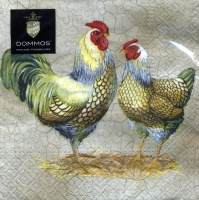 Lunch napkins Easter Couple