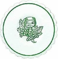 250 doily glass - 10,5 cm Traube jägergrün