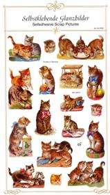 Glanzbilder - selbstklebend Katzen
