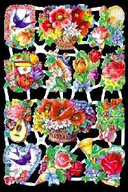 Glanzbilder Blumen,50er Jahre
