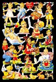 Glanzbilder spielende Babys