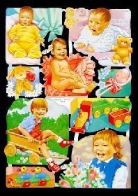 Glanzbilder mit Glimmer Kinder,80er Jahre