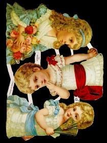 Glanzbilder 3 Mädchen,Jugendtraum