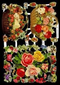 Imágenes brillantes con mica - Blumenkorb-und Strauß