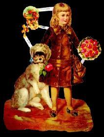 Glanzbilder Mädchen mit Hund,Jugendtr.