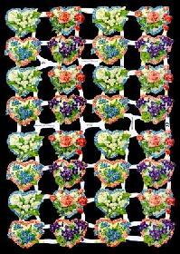 Glanzbilder 32 Blumenherzen,Jugendtr.