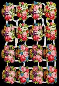 Glanzbilder 16 Blumenkörbe,Jugendtr.