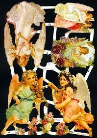 Glanzbilder mit Glimmer 5 Engel,Jugendtraum
