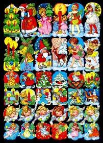 Glanzbilder 36 Weihnachtsmotive