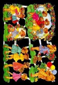 Glanzbilder spielende Kinder,50er Jahre