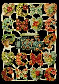 Glanzbilder Blumenmotive,Jugendtraum