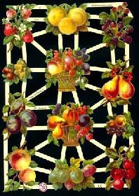 Glanzbilder Obst,Jugendtraum
