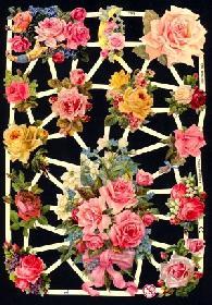 Glanzbilder rosa Rosen,Jugendtraum
