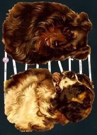 Glanzbilder mit Glimmer 2 Hunde,Jugendtraum