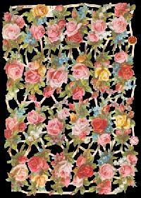 Glanzbilder mit Glimmer Rosen,Jugendtraum