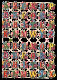 Glanzbilder mit Glimmer Buchstaben,Jugendtraum