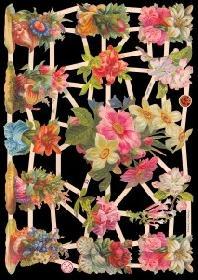 Glanzbilder Blumen,Jugendtraum