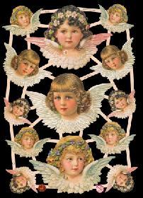 Glanzbilder mit Gold-Glimmer Engel Glitter