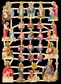 Glanzbilder Heiligenfiguren