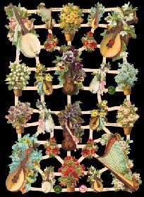 Glanzbilder Musikinstrumente