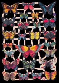 Scrap reliefs with glimmer Schmetterlinge