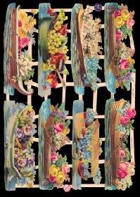 Glanzbilder Blumenschiffe,Jugendtraum
