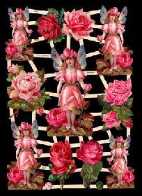 Glanzbilder mit Glimmer Rosen,Elfen