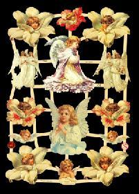 Glanzbilder Engel, weiße