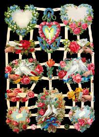Glanzbilder Hochzeitsbogen
