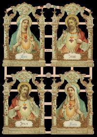 Glanzbilder mit Glimmer Jesus & Maria