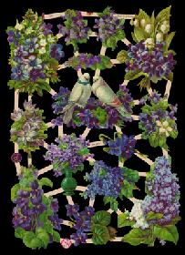 Glanzbilder lila Blumen