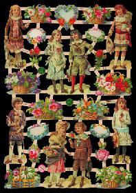 Glanzbilder Kinder/Blumen