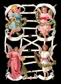 Glanzbilder 4 bunte Engel