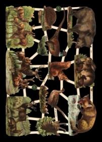 Scrap reliefs wilde Tiere