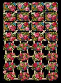 Glanzbilder mit Glimmer Blumen