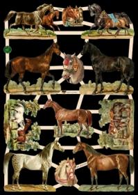 Scrap reliefs Pferde
