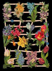 Glanzbilder mit Glimmer Frühlingsblumen