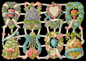 Glanzbilder mit Glimmer liebliche Blumen