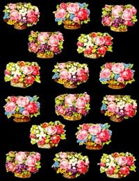 Ganzbilder - lose 16 Blumenkörbe