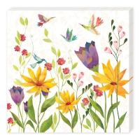 Serviettes de table 33x33 cm - Blütenpoesie