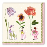 Servetten 33x33 cm - Blumenfrauen