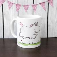 porcelain cup Einhorn auf Wiese