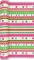 Table Runner Stripes & Stars red/green