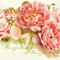 Serviettes de table 25x25 cm - Mary Roses