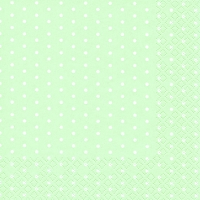 Cocktail Servietten Mini Dots pastel green