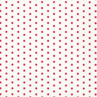 Cocktail Servietten Mini Dots white/red