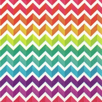 Cocktail Servietten Rainbow Chevron