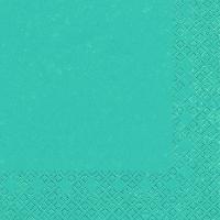 Serviettes cocktail  Modern Colours turquoise