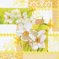 Lunch Servietten Narcissus Patchwork