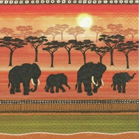 Lunch napkins African Spirit